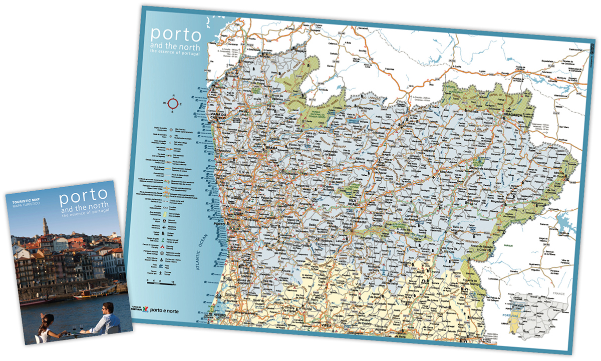 Norte De Portugal Mapa.Mapa Turistico Porto E Norte Infoportugal Sistemas De