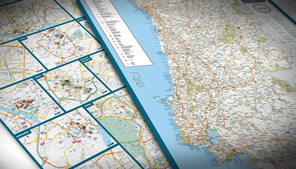 mapa de estradas de portugal online Mapa de estradas de Portugal e mapas turísticos de Lisboa e Porto  mapa de estradas de portugal online
