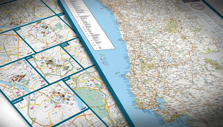 Mapa De Estradas De Portugal E Mapas Turisticos De Lisboa E Porto