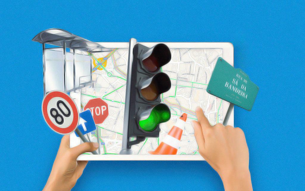 Cadastro dos objetos num mapa