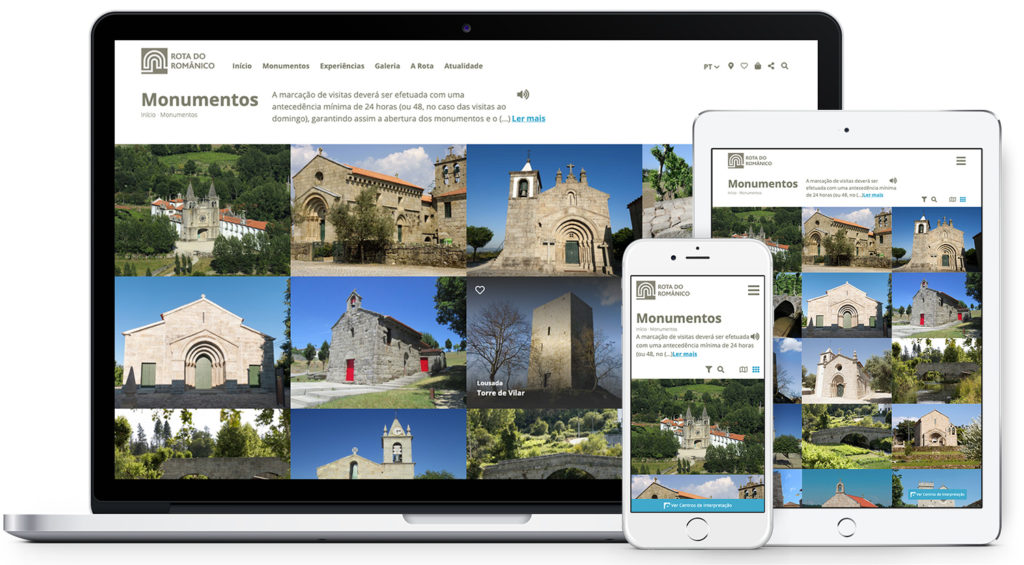 Novo website responsivo Rota do Romanico desenvolvido por InfoPortugal