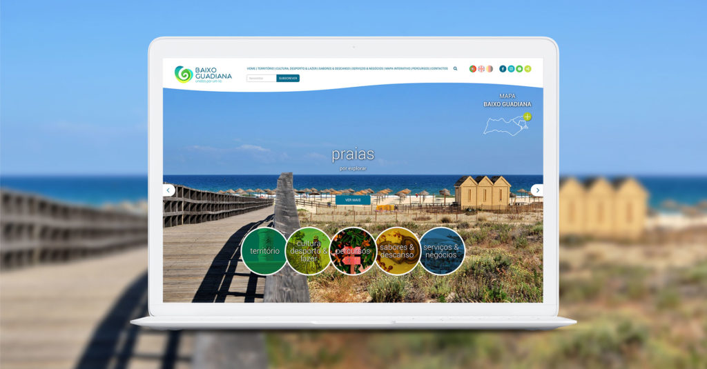 novo update website BaixoGuadiana.com