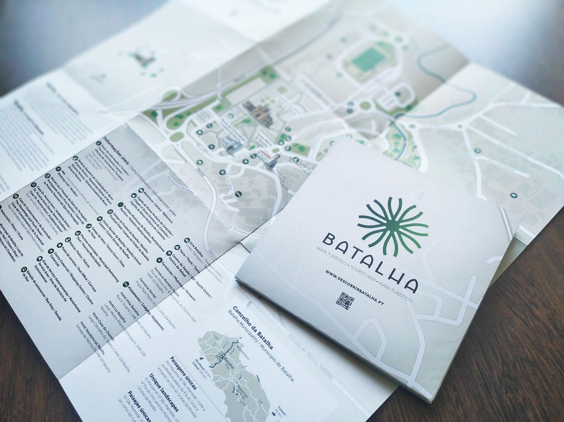 mapa turístico Batalha, produzido por InfoPortugal