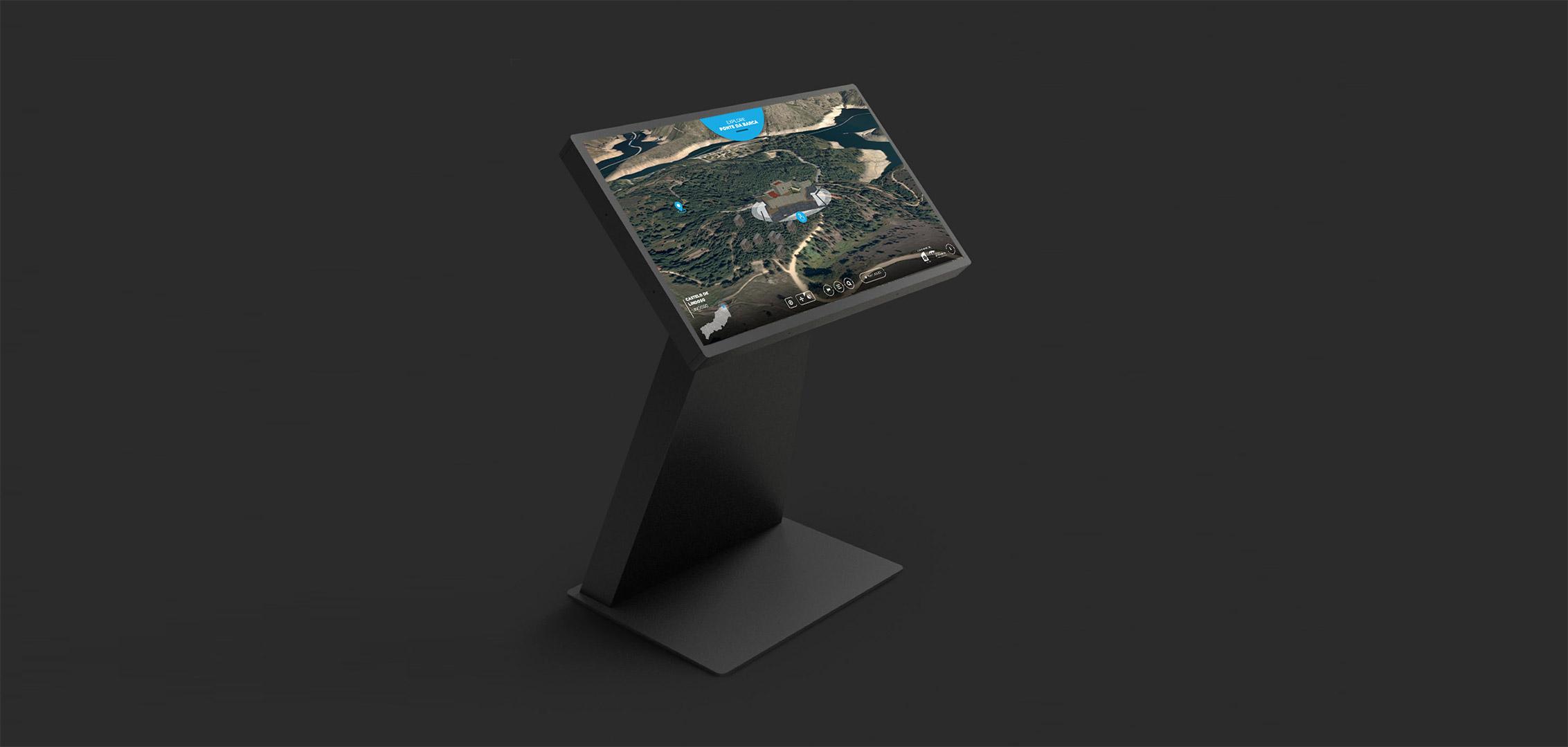 mesa interativa de Ponte da Barca desenvolvida por iIfoportugal